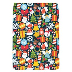 Colorful Pattern With Decorative Christmas Elements Removable Flap Cover (s)