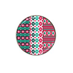 Flat Design Christmas Pattern Collection Hat Clip Ball Marker (4 Pack)