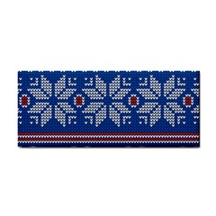 Beautiful Knitted Christmas Pattern Hand Towel