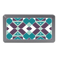 Teal And Plum Geometric Pattern Memory Card Reader (mini) by mccallacoulture