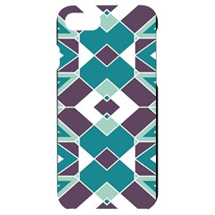 Teal And Plum Geometric Pattern Iphone 7/8 Black Uv Print Case by mccallacoulture