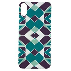 Teal And Plum Geometric Pattern Apple Iphone Xs Tpu Uv Case by mccallacoulture