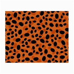 Orange Cheetah Animal Print Small Glasses Cloth by mccallacoulture