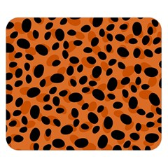 Orange Cheetah Animal Print Double Sided Flano Blanket (small)  by mccallacoulture