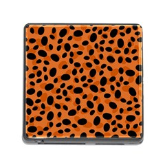 Orange Cheetah Animal Print Memory Card Reader (square 5 Slot) by mccallacoulture