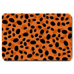 Orange Cheetah Animal Print Large Doormat  by mccallacoulture