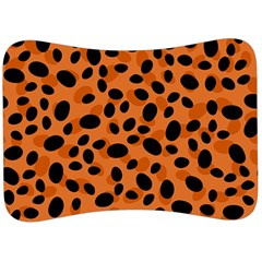 Orange Cheetah Animal Print Velour Seat Head Rest Cushion by mccallacoulture