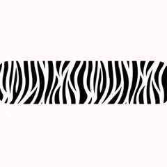 Thin Zebra Animal Print Large Bar Mats by mccallacoulture