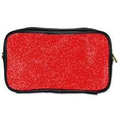 Modern Red And White Confetti Pattern Toiletries Bag (one Side)