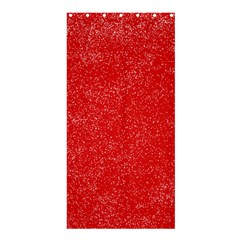 Modern Red And White Confetti Pattern Shower Curtain 36  X 72  (stall)