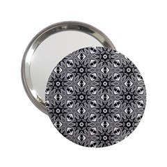 Black And White Pattern 2 25  Handbag Mirrors by HermanTelo