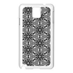 Black And White Pattern Samsung Galaxy Note 3 N9005 Case (white) by HermanTelo