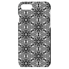 Black And White Pattern Iphone 7/8 Black Uv Print Case by HermanTelo