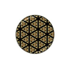 Pattern Stained Glass Triangles Hat Clip Ball Marker (10 Pack) by HermanTelo