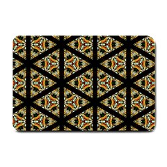 Pattern Stained Glass Triangles Small Doormat  by HermanTelo