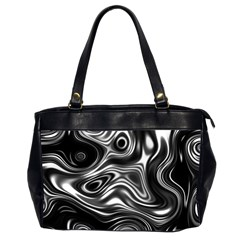 Wave Abstract Lines Oversize Office Handbag (2 Sides)