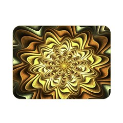 Fractal Flower Petals Gold Double Sided Flano Blanket (mini)