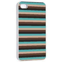 Stripey 1 Iphone 4/4s Seamless Case (white) by anthromahe