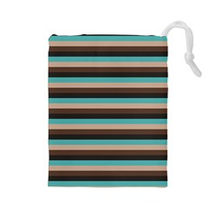 Stripey 1 Drawstring Pouch (large) by anthromahe