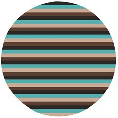 Stripey 1 Wooden Bottle Opener (round)