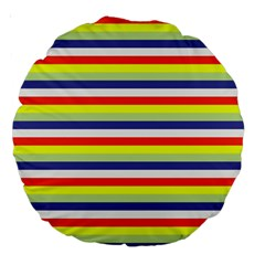 Stripey 2 Large 18  Premium Round Cushions by anthromahe