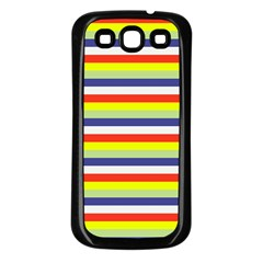 Stripey 2 Samsung Galaxy S3 Back Case (black) by anthromahe