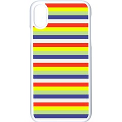 Stripey 2 Iphone Xs Seamless Case (white) by anthromahe