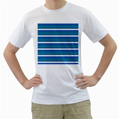 Stripey 3 Men s T-shirt (white) (two Sided) by anthromahe