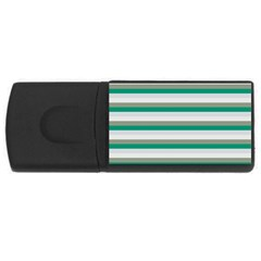Stripey 4 Rectangular Usb Flash Drive by anthromahe
