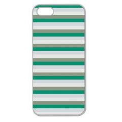Stripey 4 Apple Seamless Iphone 5 Case (clear) by anthromahe