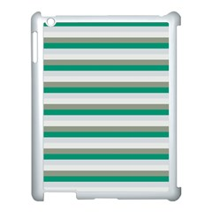 Stripey 4 Apple Ipad 3/4 Case (white) by anthromahe