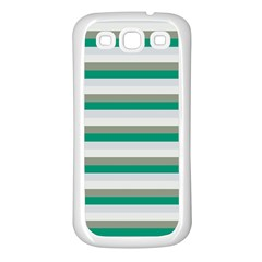 Stripey 4 Samsung Galaxy S3 Back Case (white) by anthromahe