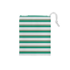 Stripey 4 Drawstring Pouch (small) by anthromahe