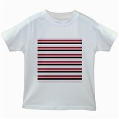 Stripey 5 Kids White T-shirts by anthromahe