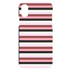 Stripey 5 Iphone X/xs Black Uv Print Case by anthromahe