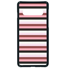 Stripey 5 Samsung Galaxy S10 Seamless Case(black) by anthromahe