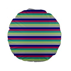 Stripey 6 Standard 15  Premium Flano Round Cushions by anthromahe