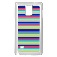 Stripey 6 Samsung Galaxy Note 4 Case (white) by anthromahe