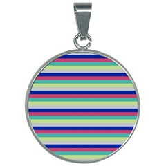 Stripey 6 30mm Round Necklace by anthromahe