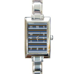 Stripey 7 Rectangle Italian Charm Watch by anthromahe