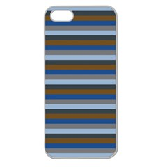Stripey 7 Apple Seamless Iphone 5 Case (clear) by anthromahe
