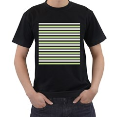 Stripey 8 Men s T-shirt (black) (two Sided) by anthromahe