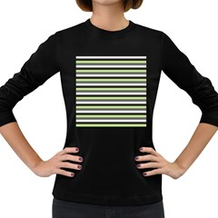 Stripey 8 Women s Long Sleeve Dark T-shirt by anthromahe