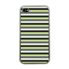 Stripey 8 Iphone 4 Case (clear) by anthromahe