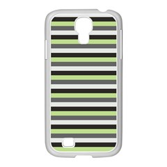 Stripey 8 Samsung Galaxy S4 I9500/ I9505 Case (white) by anthromahe