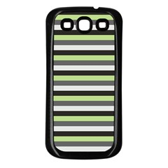 Stripey 8 Samsung Galaxy S3 Back Case (black) by anthromahe
