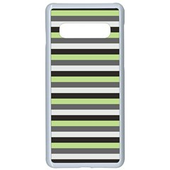 Stripey 8 Samsung Galaxy S10 Seamless Case(white) by anthromahe