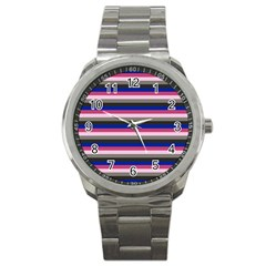 Stripey 9 Sport Metal Watch by anthromahe