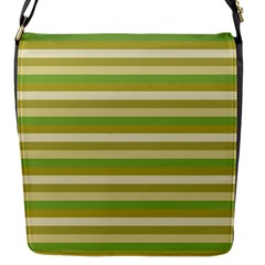 Stripey 11 Flap Closure Messenger Bag (s) by anthromahe