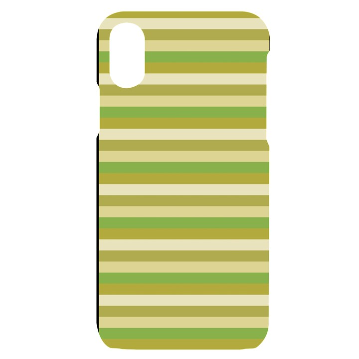 Stripey 11 iPhone X/XS Black UV Print Case
